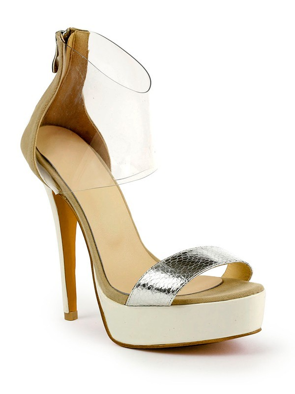 Women's Stiletto Heel Patent Leather Peep Toe Platform Sandals Shoes