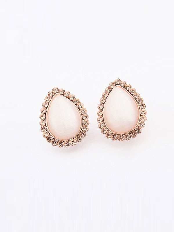 Occident Water Drop Temperament Catseye Hot Sale Ear Clip