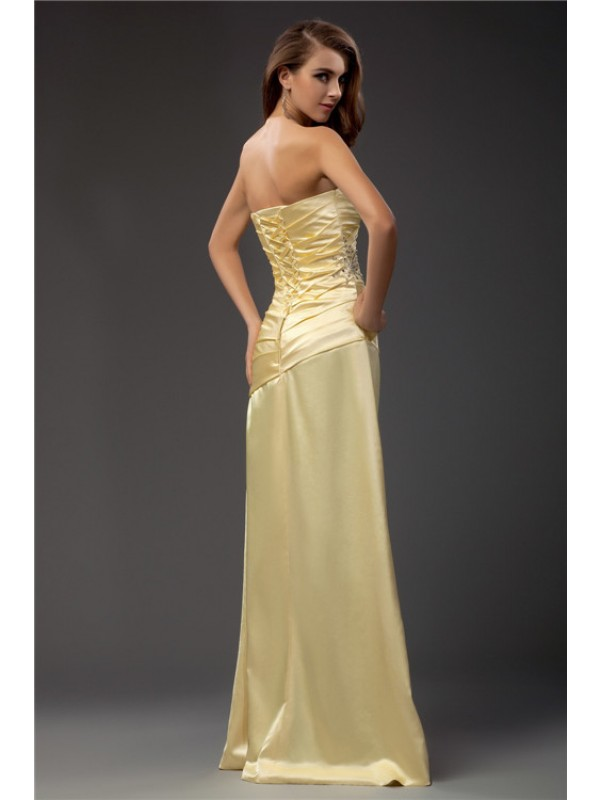 Sheath/Column Sweetheart Sleeveless Long Taffeta Dresses
