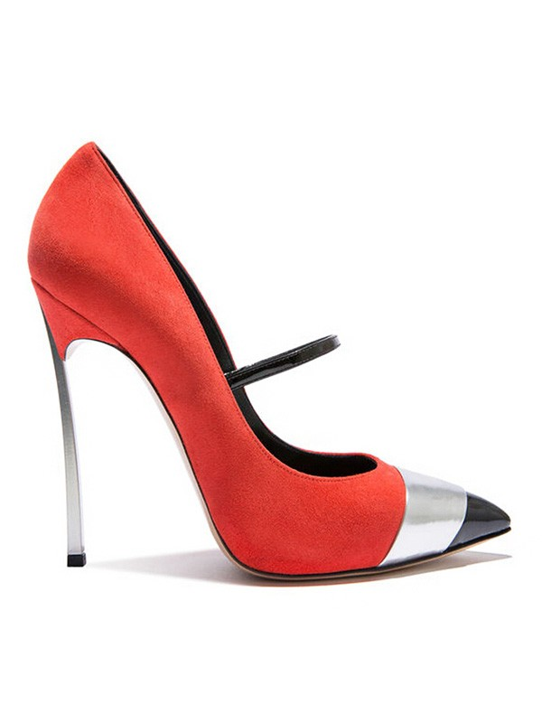 Women's Suede Closed Toe Stiletto Heel Sandals